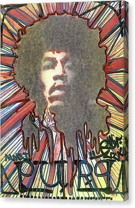 Jimmy Hendrix Canvas Print - Purp by Robert Wolverton Jr