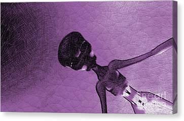 Bizarre Canvas Print - Purple Alien by Raphael Terra
