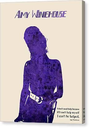 Musica Canvas Print - Purple Amy by Pablo Franchi
