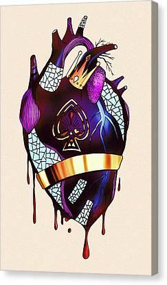 Royal Heart  Canvas Print by Kenal Louis