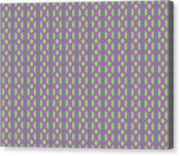 Canvas Print featuring the digital art Purple And Green by Elizabeth Lock