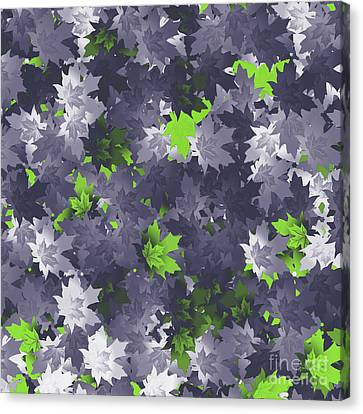 Purple And Green Leaves Canvas Print by Methune Hively