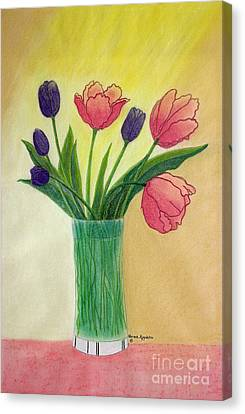 Appleton Canvas Print - Purple And Pink Tulips by Norma Appleton