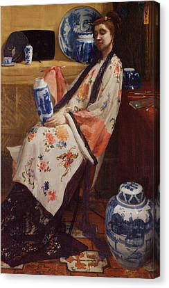 Purple And Rose Canvas Print by James Abbott McNeill Whistler
