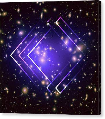 Purple Angles In Space Canvas Print by Brandi Fitzgerald