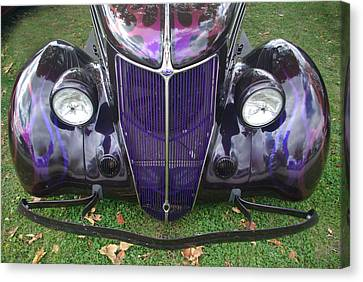 Purple Antique Ford Canvas Print by Kathy M Krause