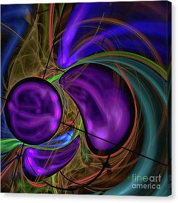 Canvas Print featuring the digital art Purple Anyone by Deborah Benoit