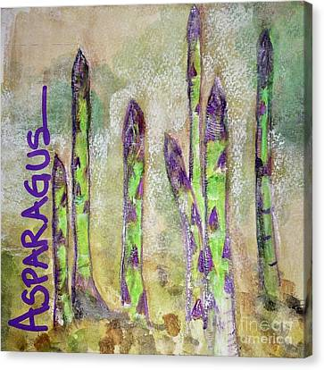 Canvas Print featuring the painting Purple Asparagus by Kim Nelson