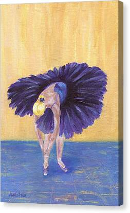 Canvas Print featuring the painting Purple Ballerina by Jamie Frier