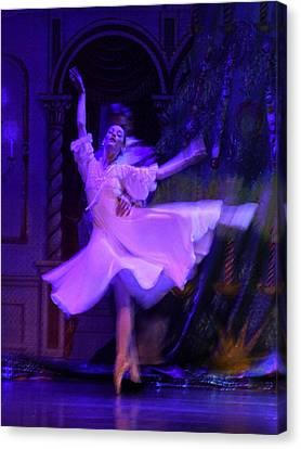 Canvas Print - Purple Ballet Dancer by Ron Morecraft