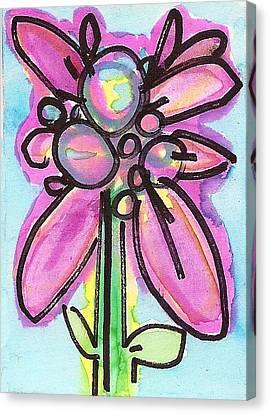 Purple Blues Canvas Print by Christina Fajardo