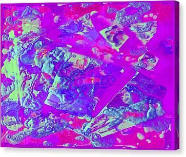Canvas Print featuring the photograph Purple Blur Landscape by Alexandra Masson