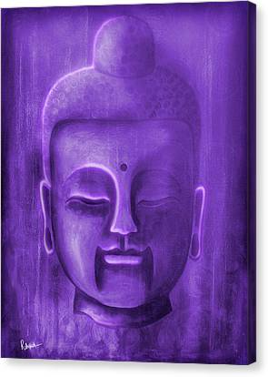 Buddha Canvas Print - Purple Buddha by Roly Orihuela