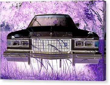Purple Cadillac Canvas Print by Julie Niemela