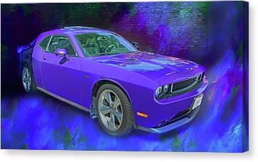 Purple Car - Challenger Canvas Print by Nikolyn McDonald