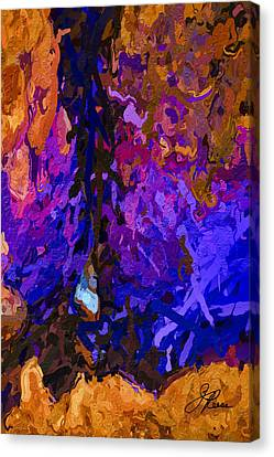 Canvas Print featuring the painting Purple Cave by Joan Reese