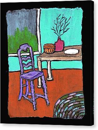 Purple Chair Canvas Print by Wayne Potrafka