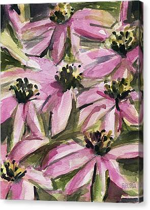 Coneflower Canvas Print - Purple Coneflowers by Beverly Brown Prints