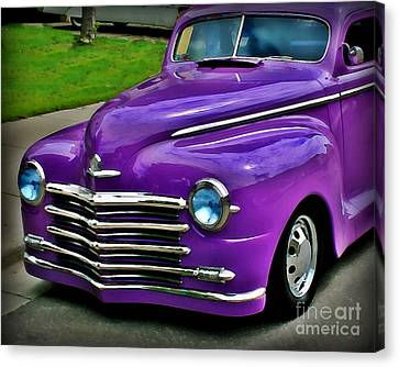 Purple Cruise Canvas Print by Perry Webster