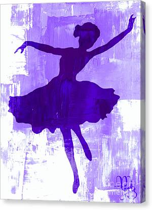 Purple Dancer Canvas Print
