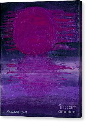 Canvas Print featuring the painting Purple Dawn by Ania M Milo