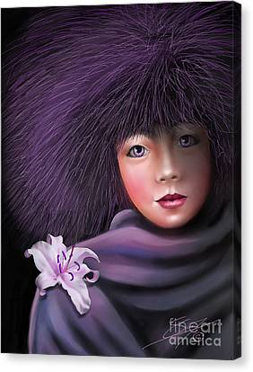 Canvas Print featuring the painting Purple Delight by S G