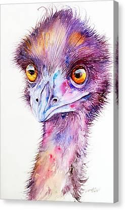 Purple Emu Canvas Print