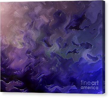 Purple Energy Canvas Print by Krissy Katsimbras