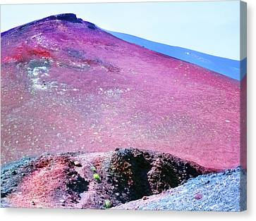 Purple Etna Volcano  Canvas Print by Nat Air Craft