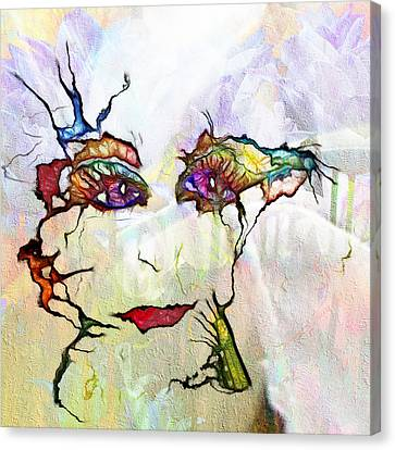 Purple Eyed Nymph Canvas Print