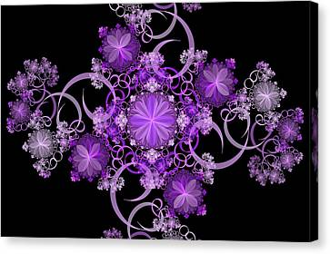 Canvas Print featuring the photograph Purple Floral Celebration by Sandy Keeton