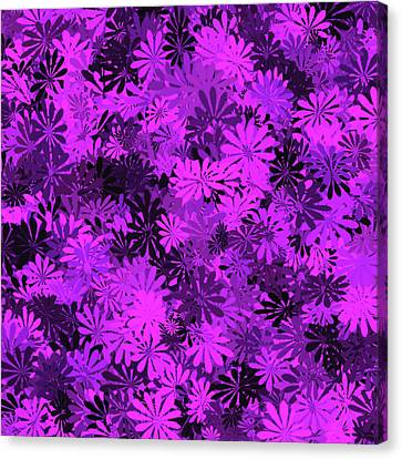 Purple Floral Pattern Canvas Print by Aimee L Maher Photography and Art Visit ALMGallerydotcom