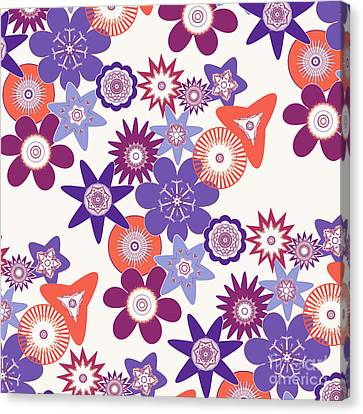 Purple Flower Fantasy Canvas Print by Methune Hively