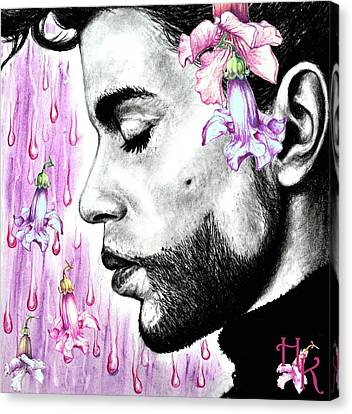 Purple Flower Rain  Prince, Roger Nelson Canvas Print by Heidi Kriel