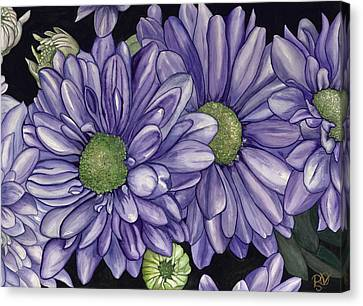 Purple Flowers Canvas Print by Patty Vicknair