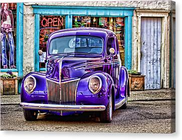 Purple Ford Deluxe Canvas Print by Carol Leigh