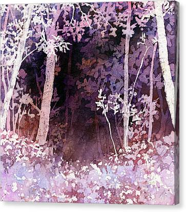 Purple Forest Canvas Print by Hailey E Herrera