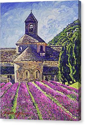 Purple Gardens Provence Canvas Print by David Lloyd Glover