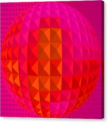 Purple Globe Canvas Print by Ramon Labusch