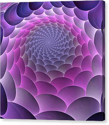 Purple Gradient Canvas Print by Anastasiya Malakhova