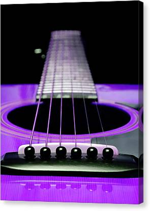 Purple Guitar 15 Canvas Print by Andee Design