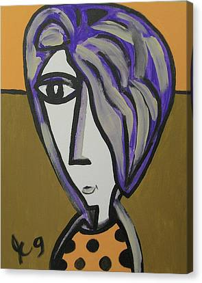 Purple Hair Gets In My Eyes Canvas Print by Jimmy King