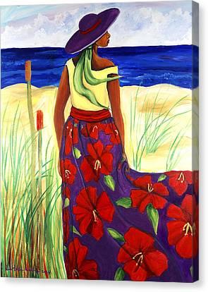 Purple Hat Canvas Print by Diane Britton Dunham