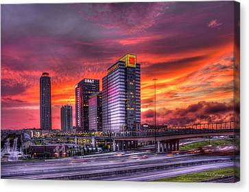Purple Haze Atlanta Atlantic Station Canvas Print