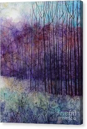 Bare Trees Canvas Print - Purple Haze by Hailey E Herrera