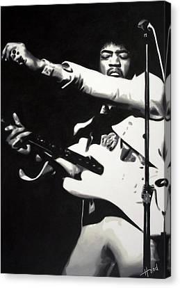 Jimmy Hendrix Canvas Print - Purple Haze by Hood alias Ludzska