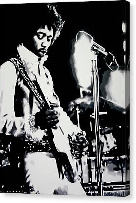 Jimmy Hendrix Canvas Print - Purple Haze by Luis Ludzska