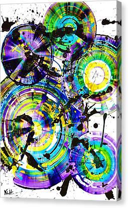 Purple Haze Spheres And Circles 1509.021413 Canvas Print by Kris Haas