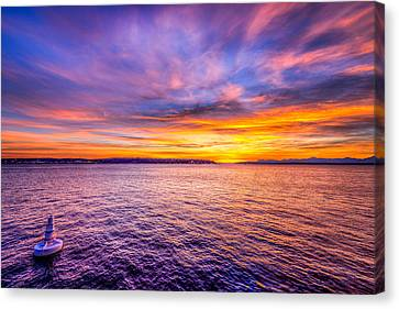 Purple Haze Sunset Canvas Print