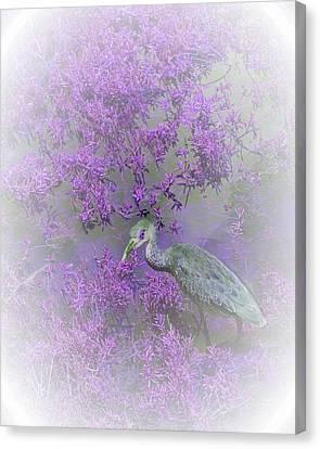 Juvenile Wall Decor Canvas Print - Purple Hideaway by Ellen Barron O'Reilly